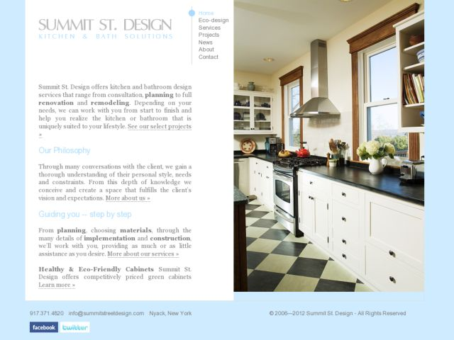 screenshot of Summit St. Design - Kitchen and Bath Solutions