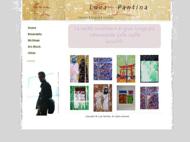 screenshot of Luca Pantina Visual Artist Site