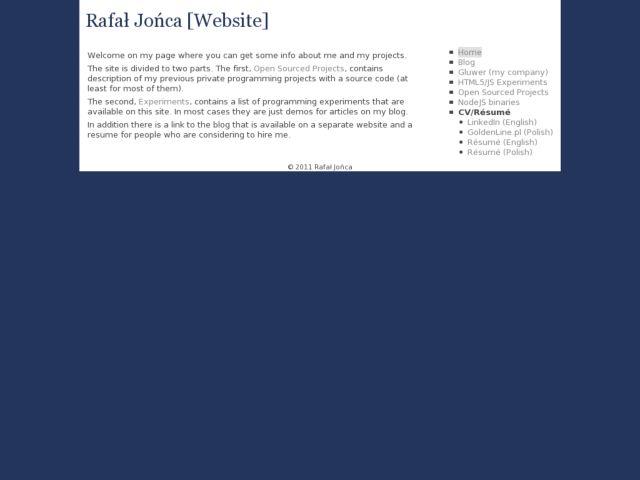 Rafał Jońca Personal website