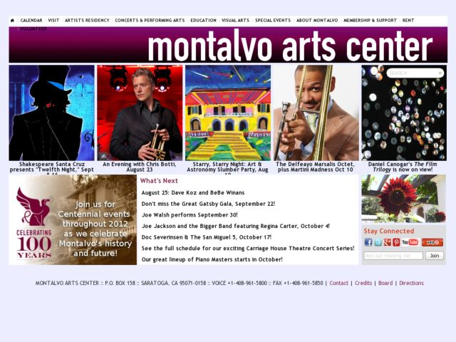 screenshot of Montalvo Arts Center
