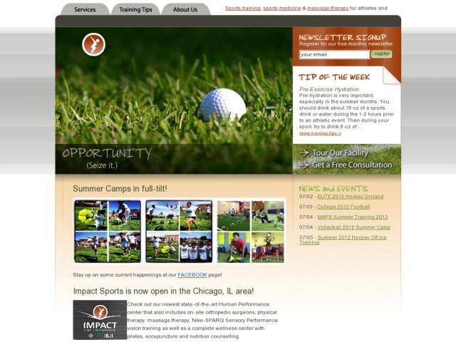 screenshot of Impact Sports Performance
