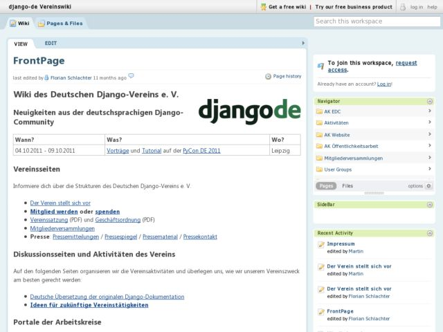 Django-de - The German Django community