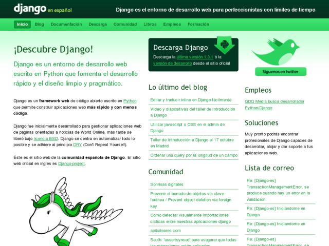 screenshot of Django en español