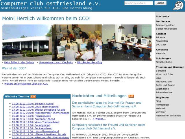 screenshot of Computer Club Ostfriesland