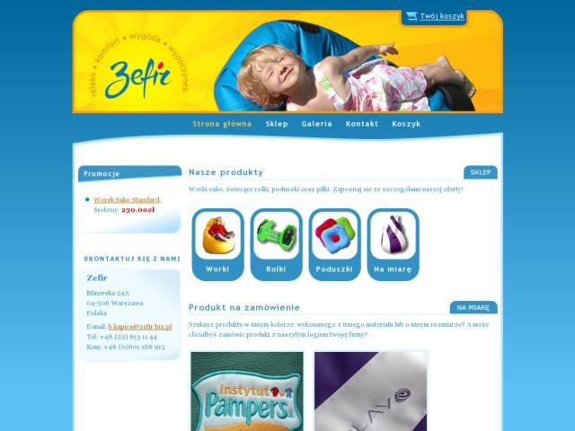 screenshot of Zefir