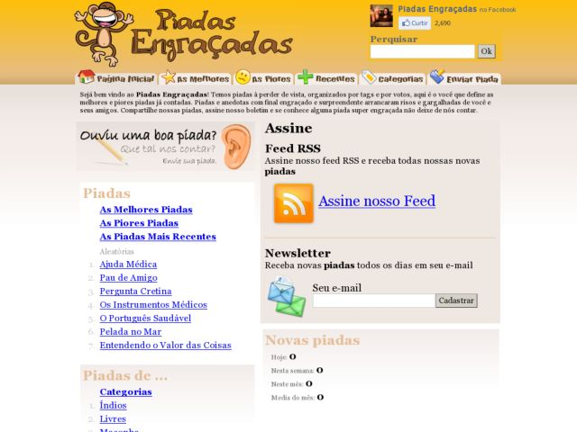 screenshot of Mais Piadas