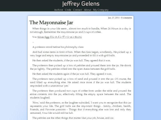 Jeffrey Gelens' Weblog
