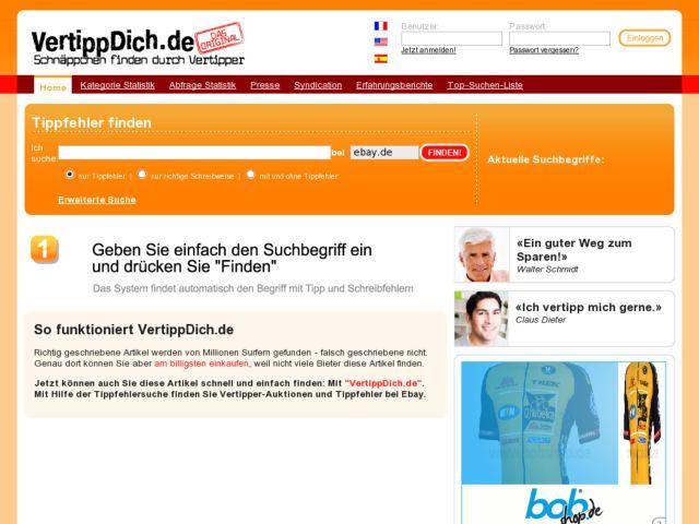 screenshot of VertippDich.de