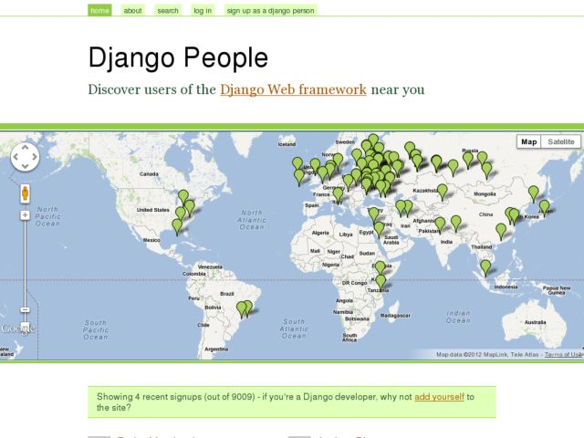 screenshot of Django People