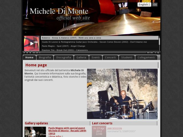screenshot of Michele Di Monte Official Web Site