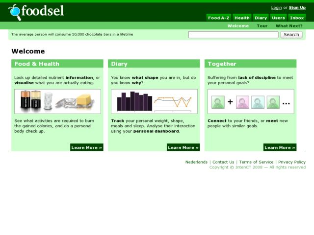 screenshot of Foodsel