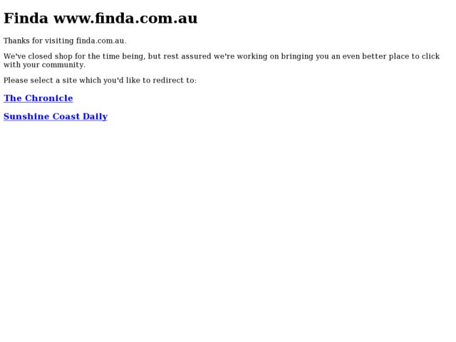 screenshot of Finda Australia