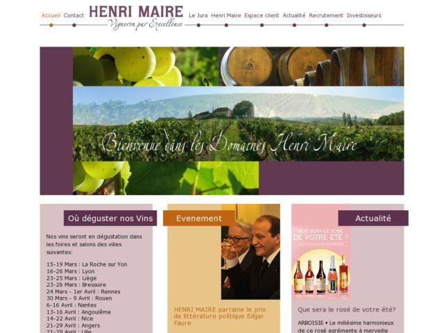 screenshot of Vins Henri Maire