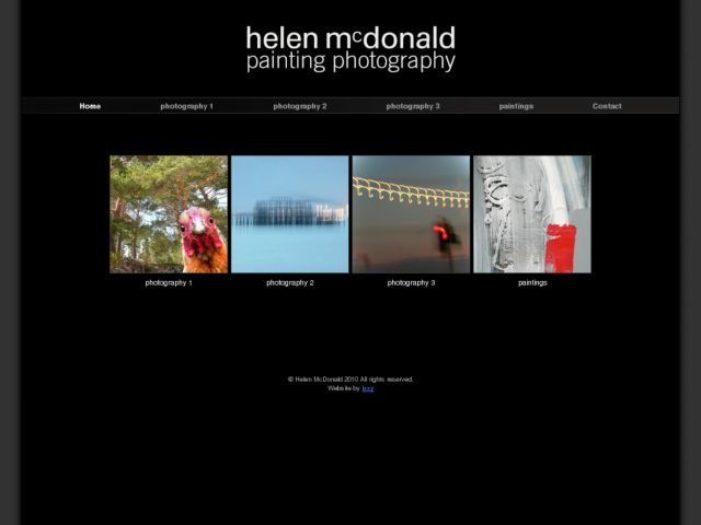 screenshot of Artist Helen McDonald's Gallery