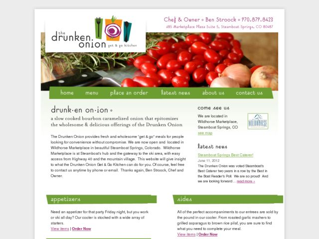screenshot of The Drunken Onion