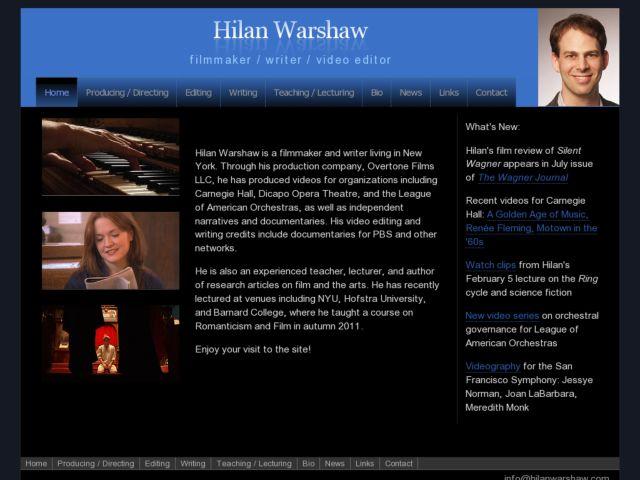 Hilan Warshaw | filmmaker/writer