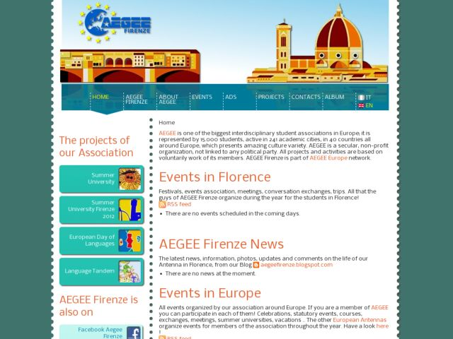 screenshot of Aegee Firenze