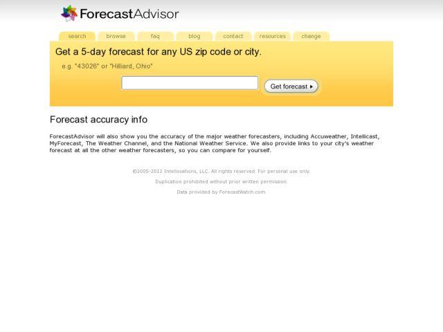 ForecastAdvisor