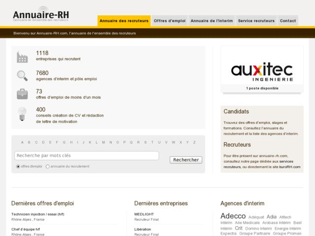 screenshot of Annuaire-RH