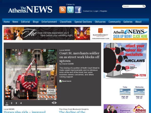 screenshot of Athens News