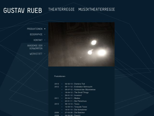 screenshot of Gustav Rueb