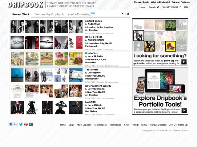 screenshot of Dripbook