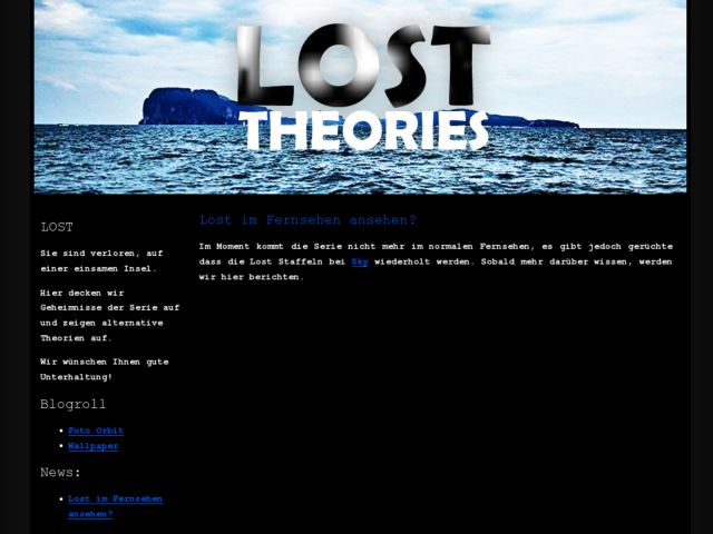 screenshot of Lost Theories