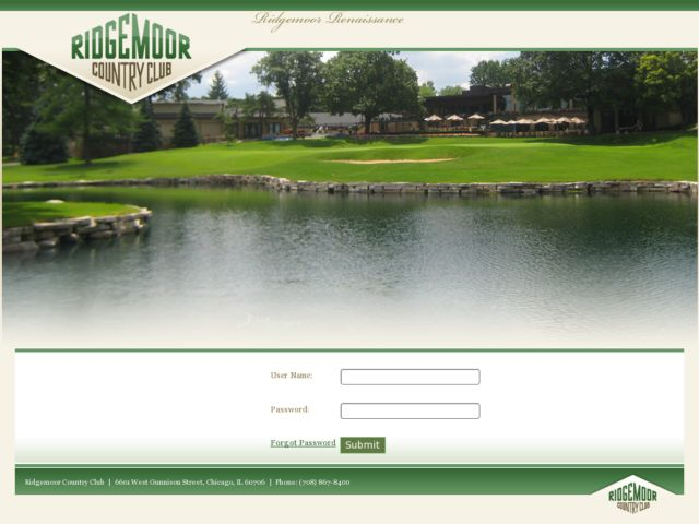 screenshot of Ridgemoor Country Club