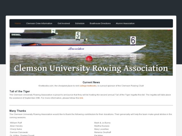 Clemson University Rowing Association