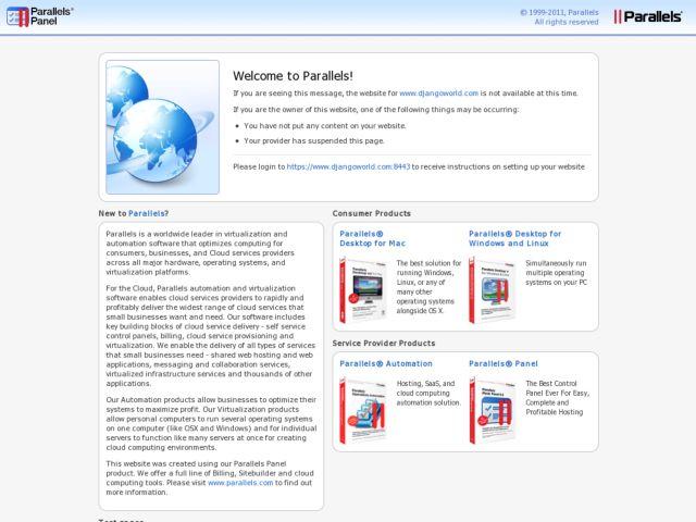 screenshot of Djangoworld.com