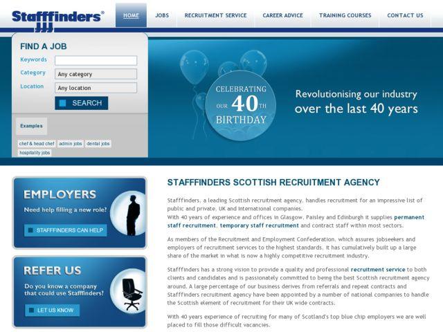 screenshot of Stafffinders