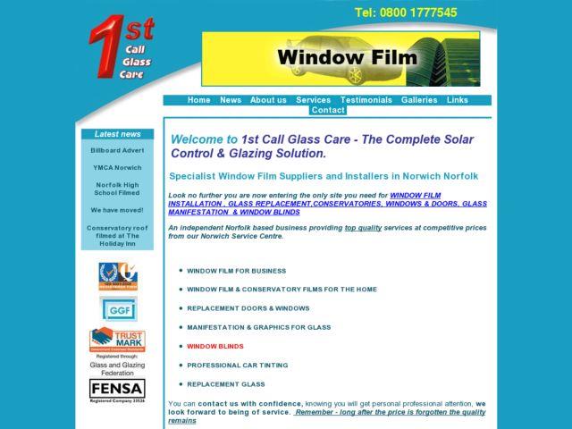 screenshot of 1st Call Glassware