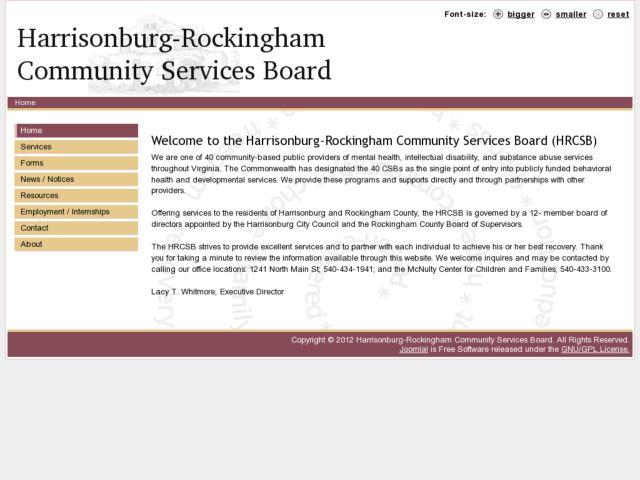 screenshot of HRCSB