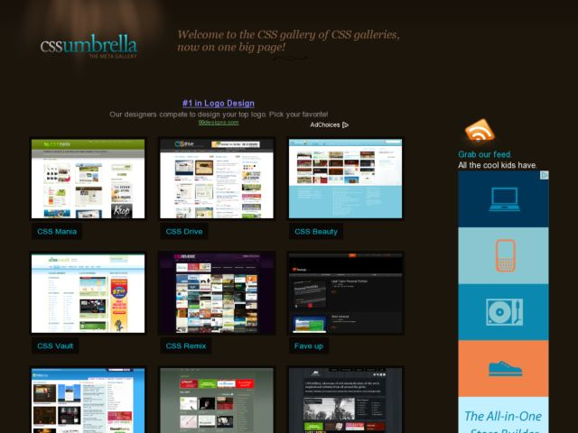 screenshot of CSS Umbrella