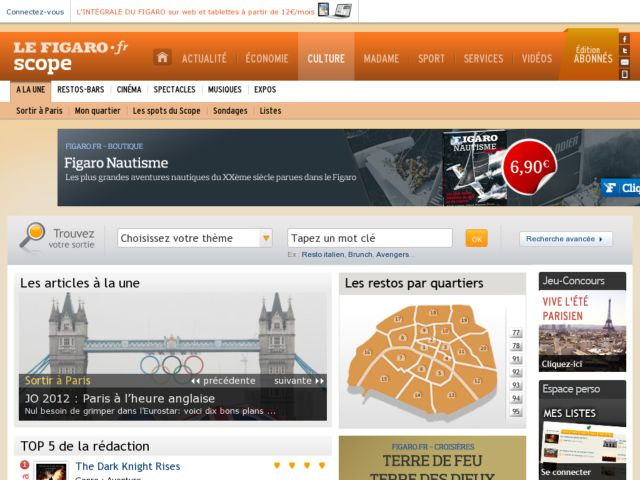 screenshot of FigaroScope