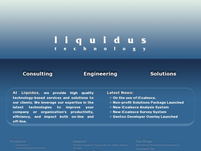 screenshot of Liquidus Tech, LLC