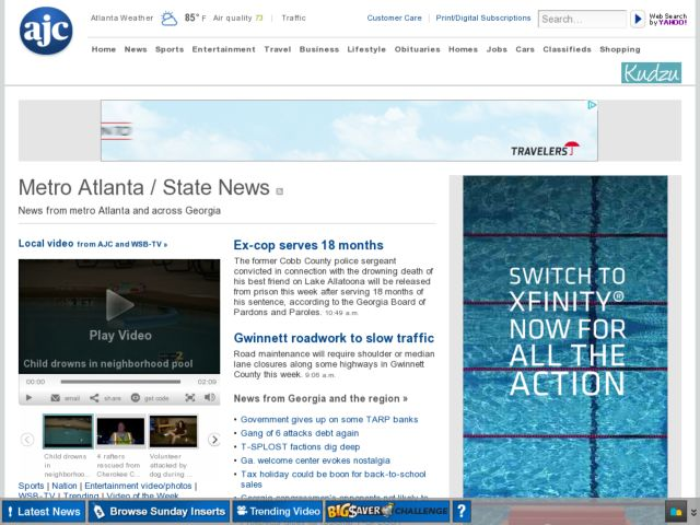 screenshot of Campaign Finance | ajc.com
