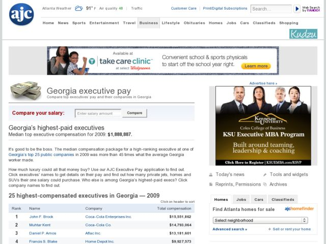 Georgia's Highest paid executives