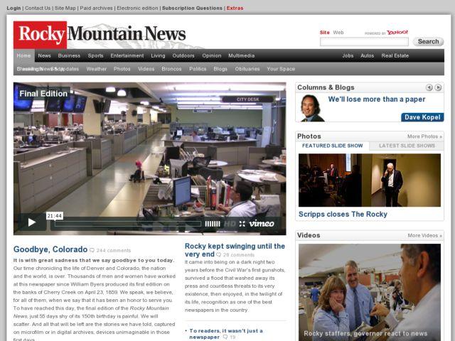 screenshot of Rocky Mountain News
