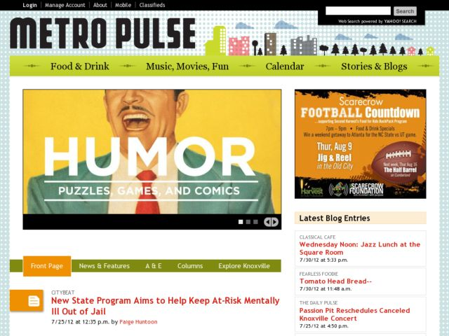 screenshot of Metro Pulse