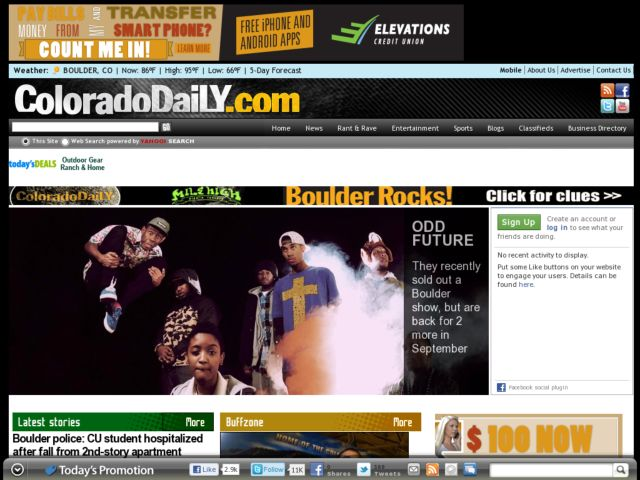 screenshot of Colorado Daily