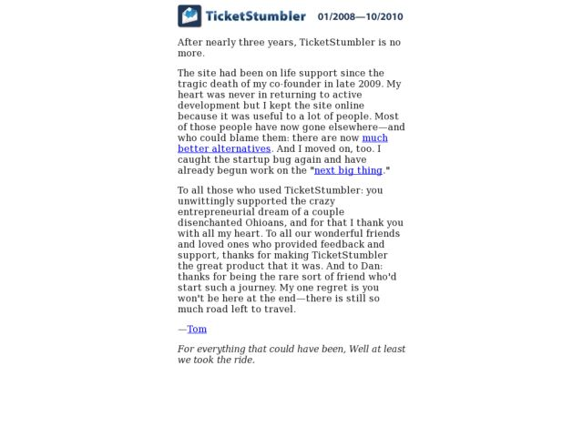 TicketStumbler