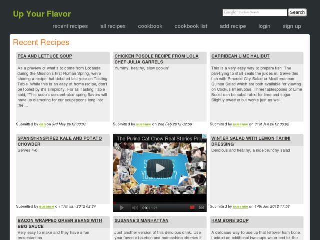 screenshot of Up Your Flavor