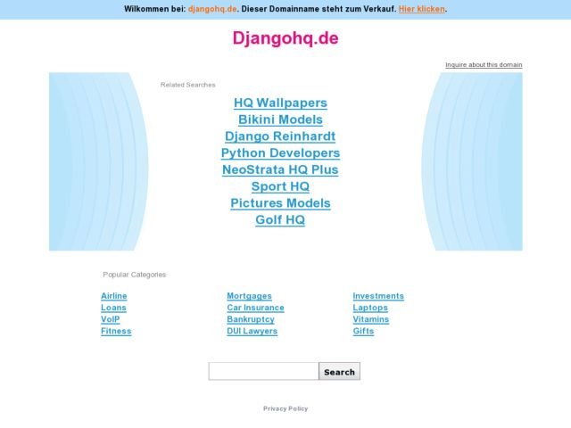 screenshot of DjangoHQ - German django news aggregator