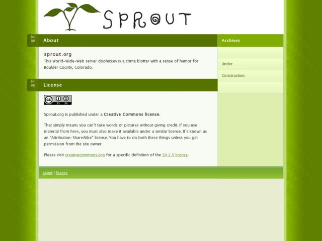 screenshot of Sprout