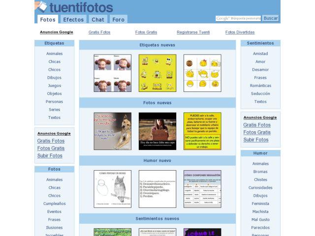 screenshot of Tuentifotos