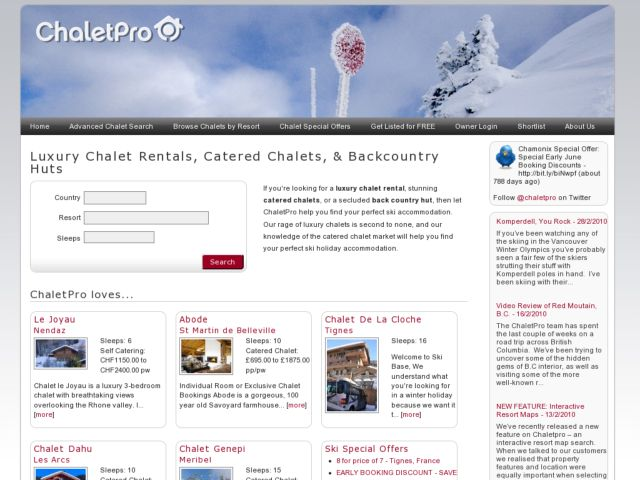 ChaletPro.com - Ski Chalets and Luxury Chalets for rent.