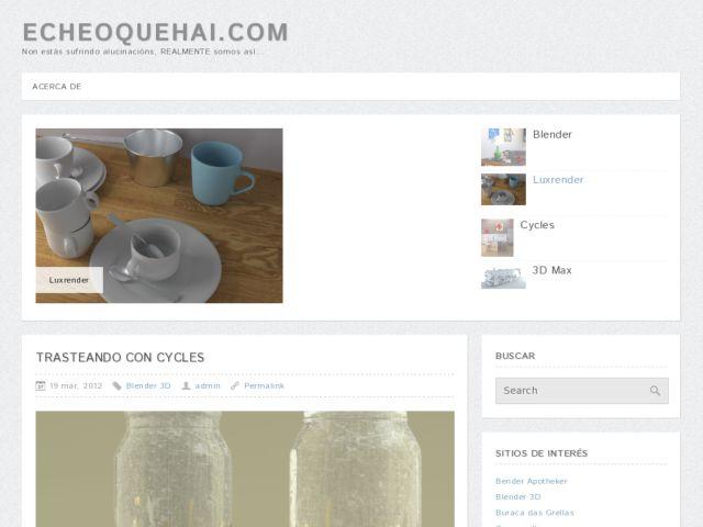 screenshot of Eche o que hai website