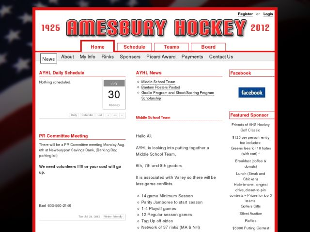 Amesbury Youth Hockey League