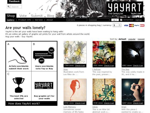 screenshot of YayArt